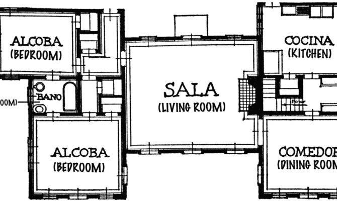 House Blueprint Spanish Titles Clipart Etc
