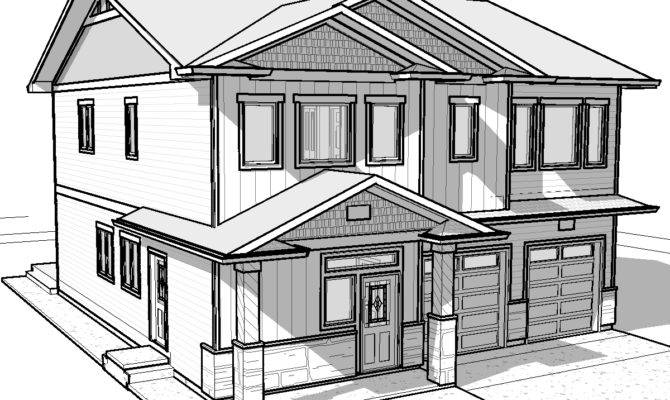 House Drawing Pencil Easy Drawings Modern Basic