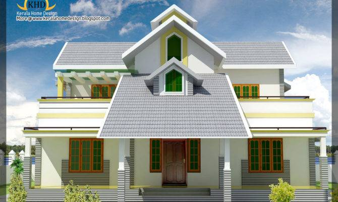 House Elevation Plan Kerala Home