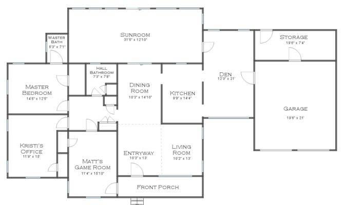 House Floor Plan Measurements