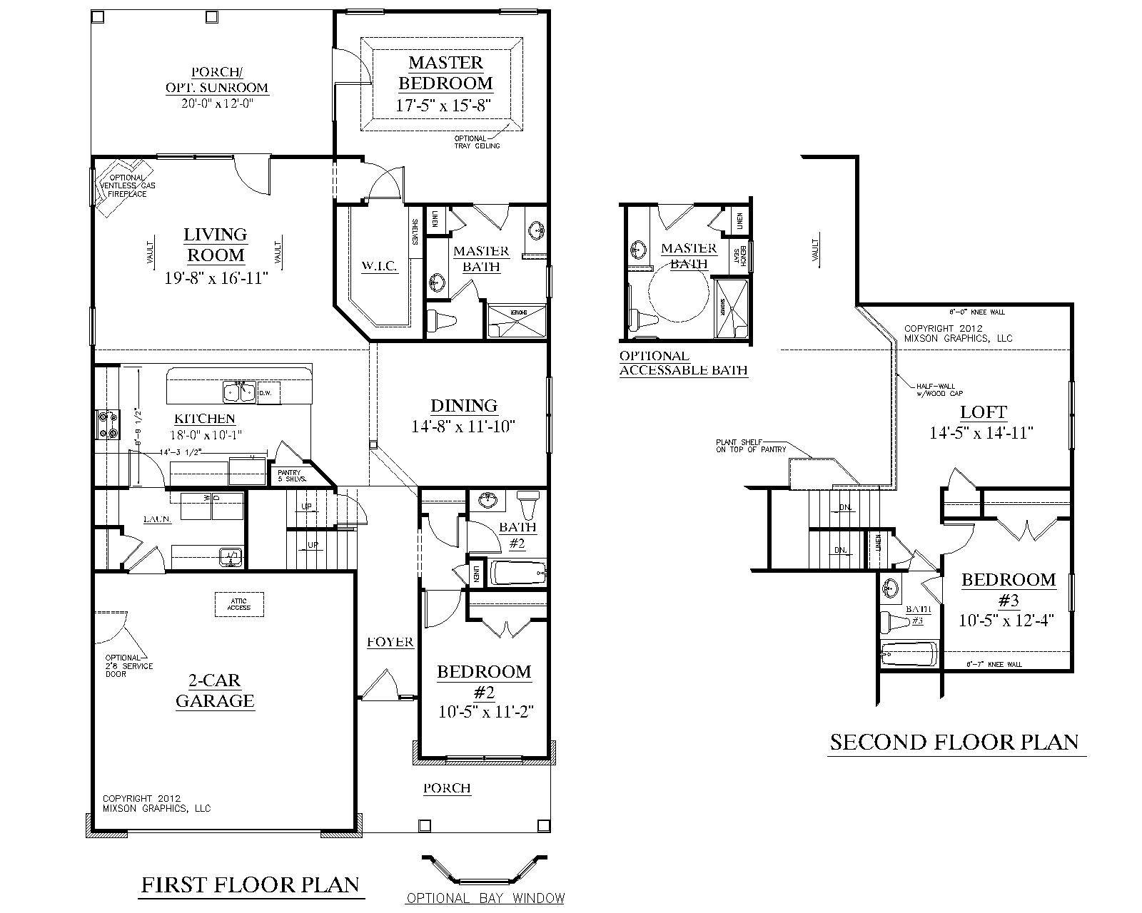 House Floor Plans Bedroom Bath Plan Kingstree