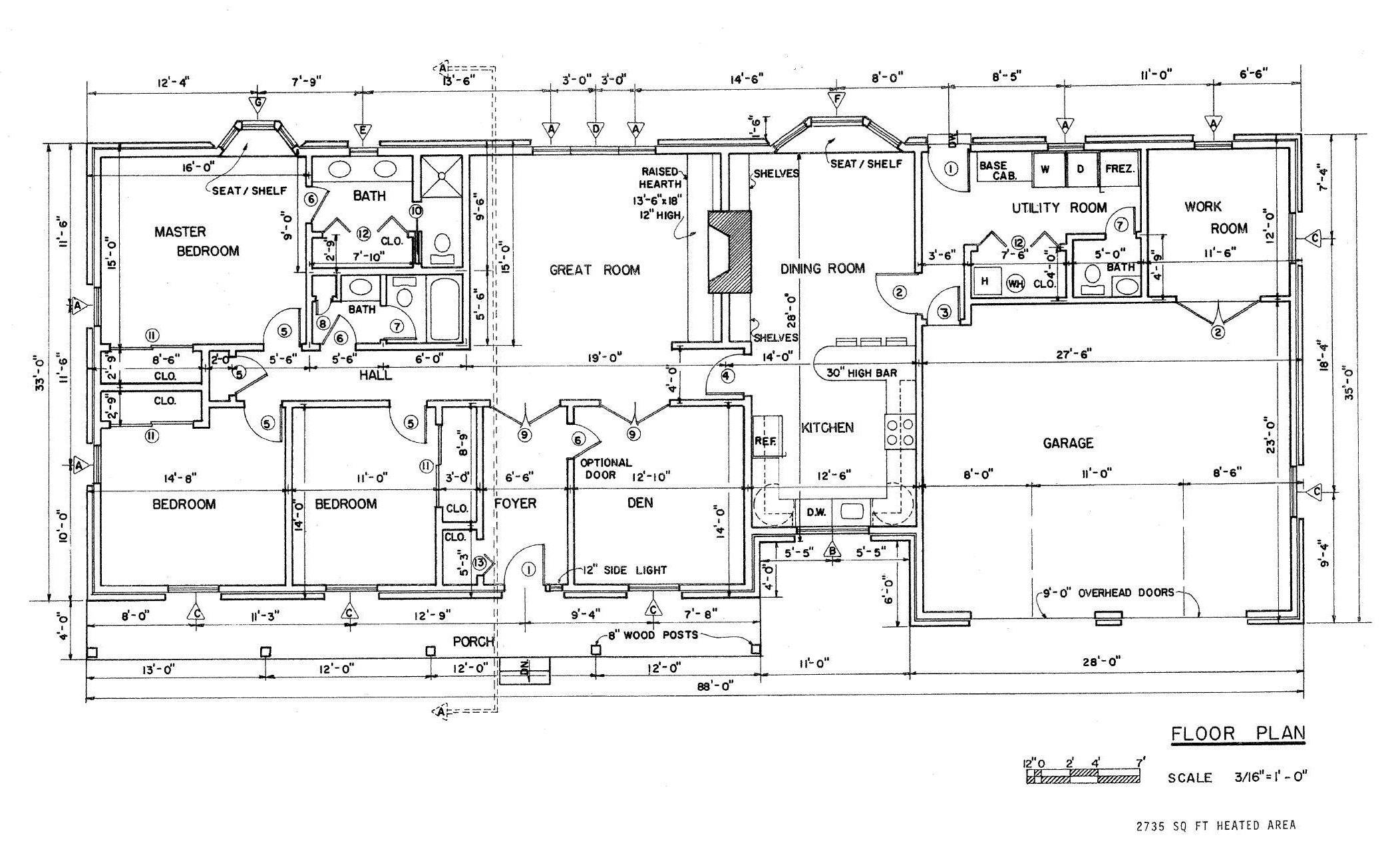 House Floor Plans Country Home Plan Design Idea