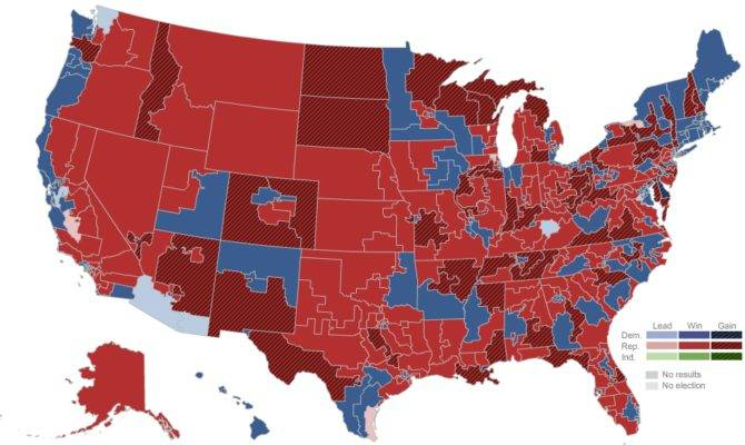 House Map Election Results New York Times