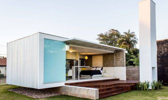 House Modern Bachelor Pad Brazil Alex
