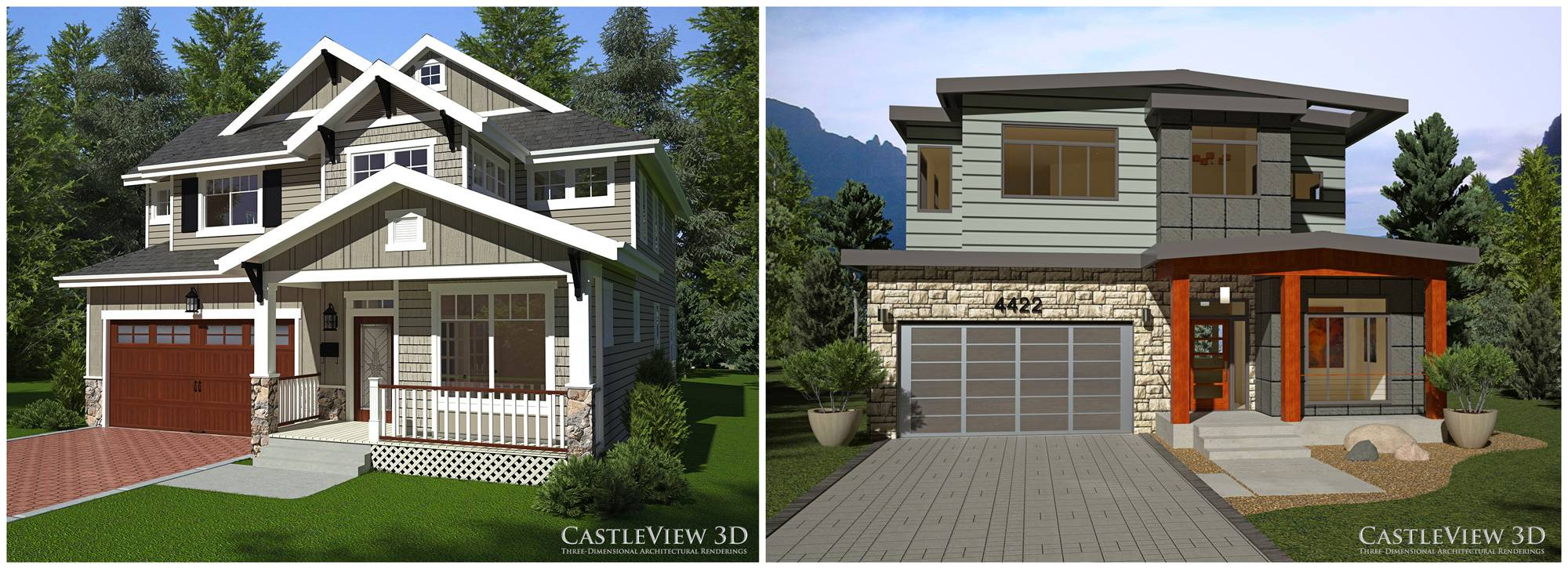House One Craftsman Modern Modeled Same Home Plan