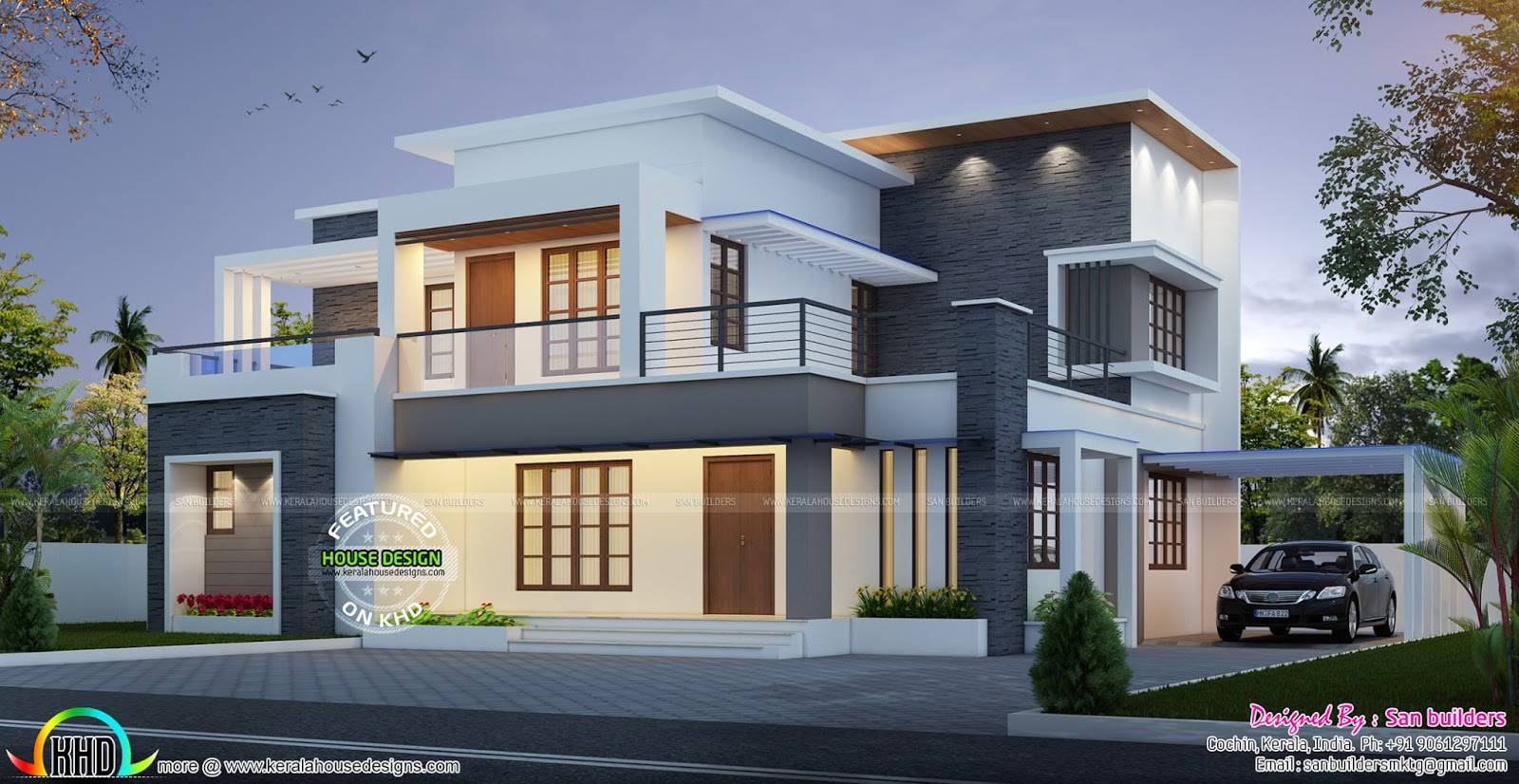 House Plan Elevation San Builders Kerala Home