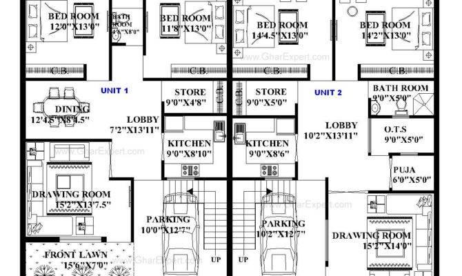 House Plan Feet Plot