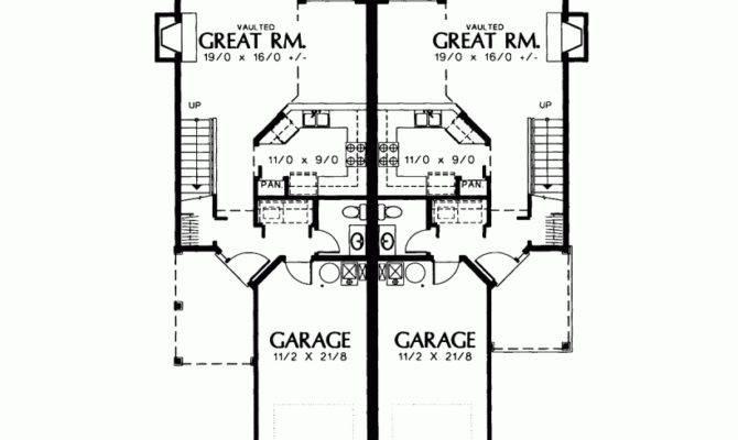 House Plan Petite Two Story Duplex Square Feet