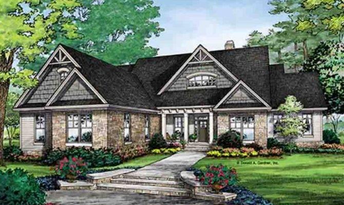 House Plan Quaint Craftsman Finished Walkout Basement