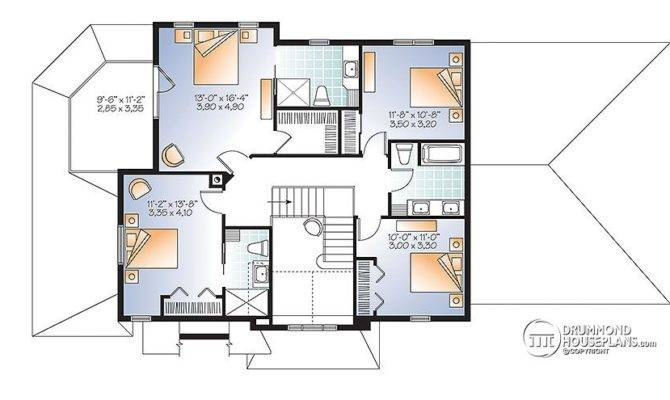 House Plan Rustic Touches Two Master Suites Drummond