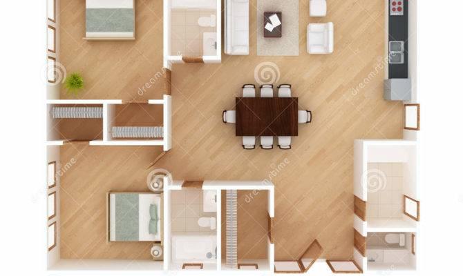 House Plan Top Illustration