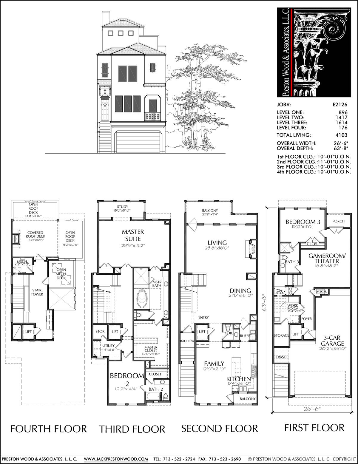 House Plan Townhome Floor Plans Designs Donald