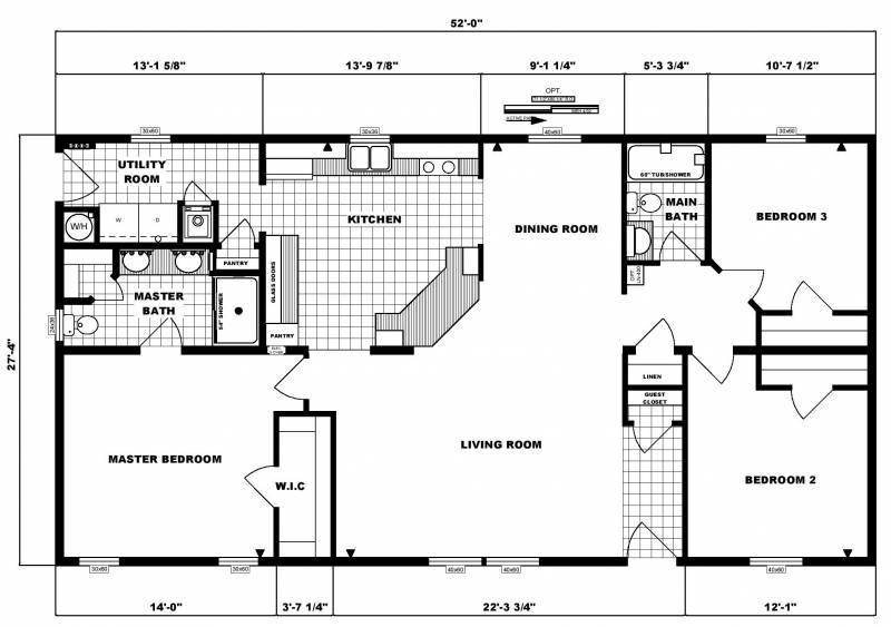 House Plans Bedroom Ranch Homes Floor