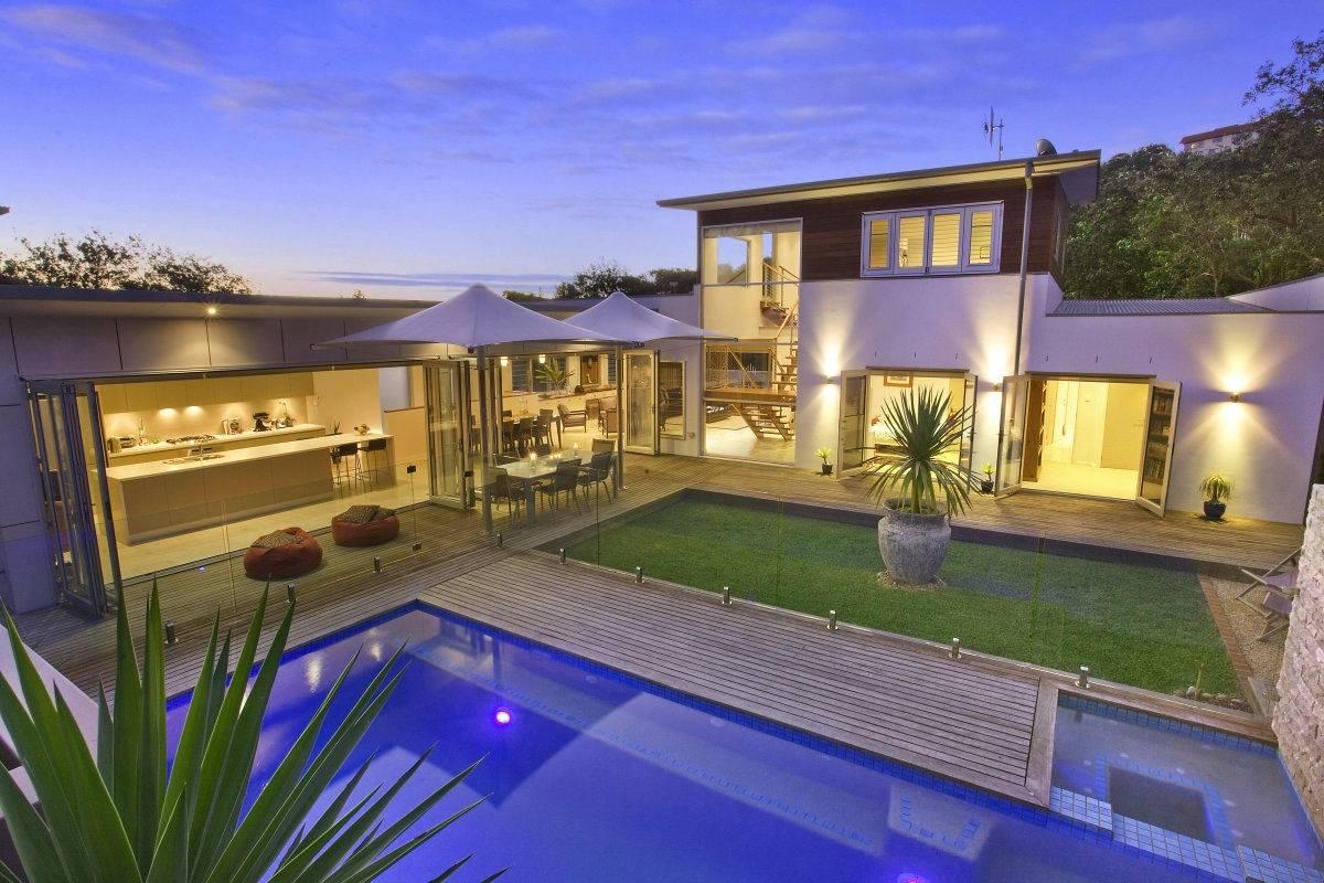 House Plans Courtyard Pool Amazing Shaped