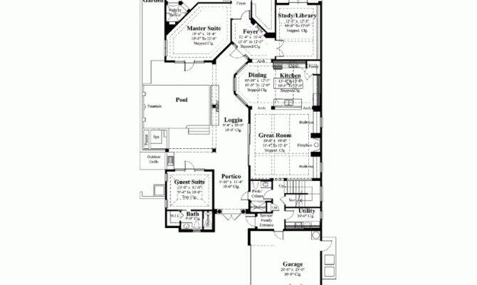House Plans Courtyard Pool Design Planning Houses