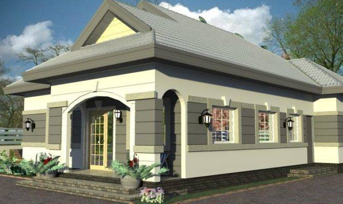 House Plans Design Architectural Bedroom Bungalow