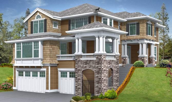House Plans Design Modern Sloped Lot
