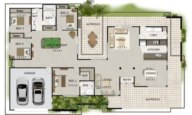 House Plans Design Small Corner Block