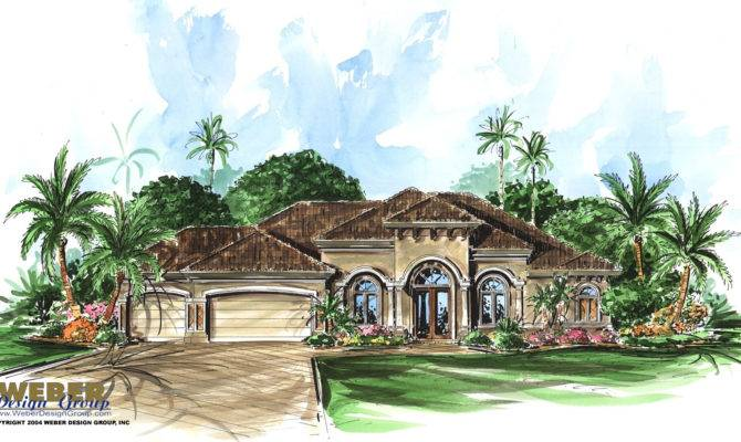 House Plans Design Tuscan Single Story South