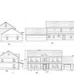 House Plans Elevation Floor Plan North Arrow Model