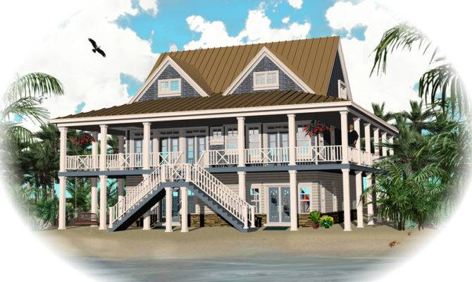 House Plans Lake Colonial Vacation