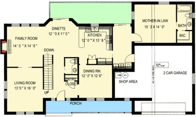 House Plans Large Inlaw Suite Home Deco