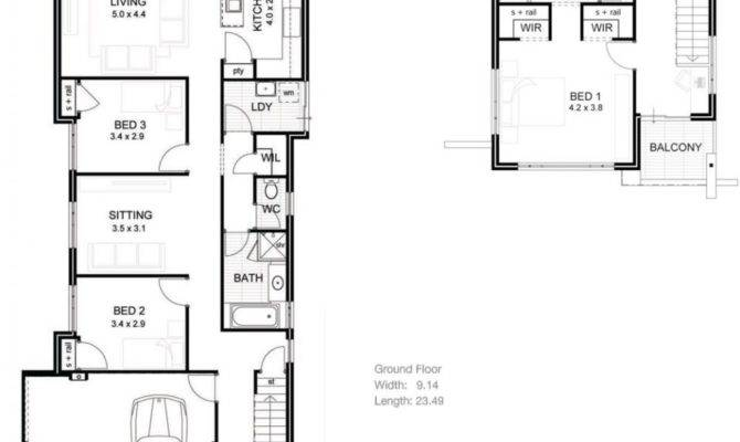 House Plans Narrow Lot Luxury Homes Floor