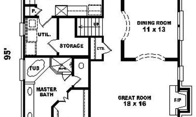House Plans Narrow Lot Smalltowndjs
