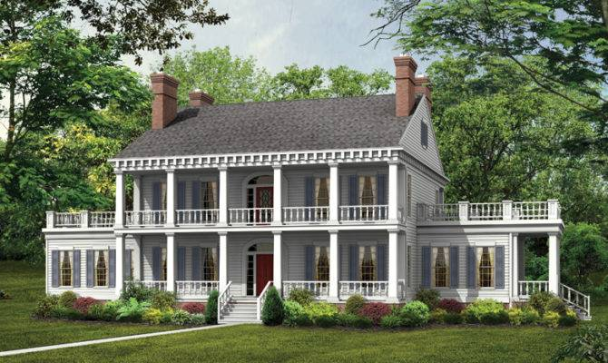 House Plans Plantation Style Homes Floor