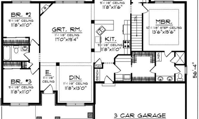 House Plans Reverse Ranch Design