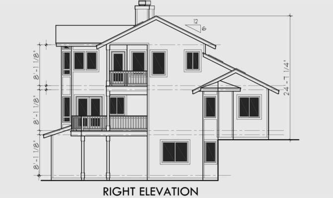 House Plans Sloping Lot Multi Level