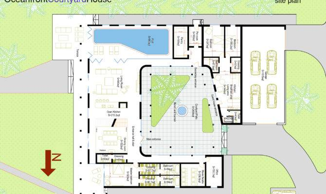 House Plans Small Courtyard Spanish