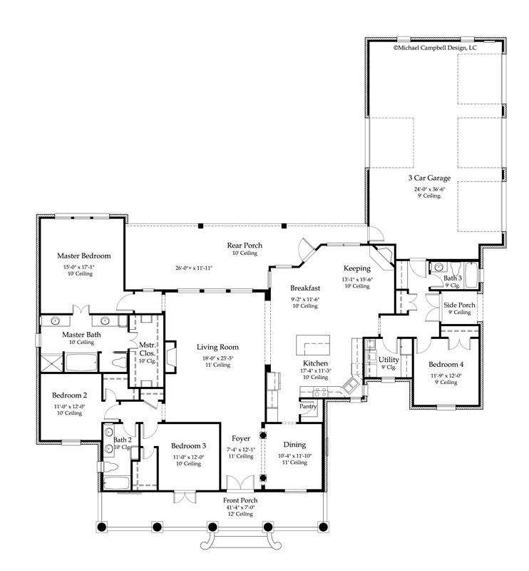 House Plans Square Feet Bedroom Bath Louisiana