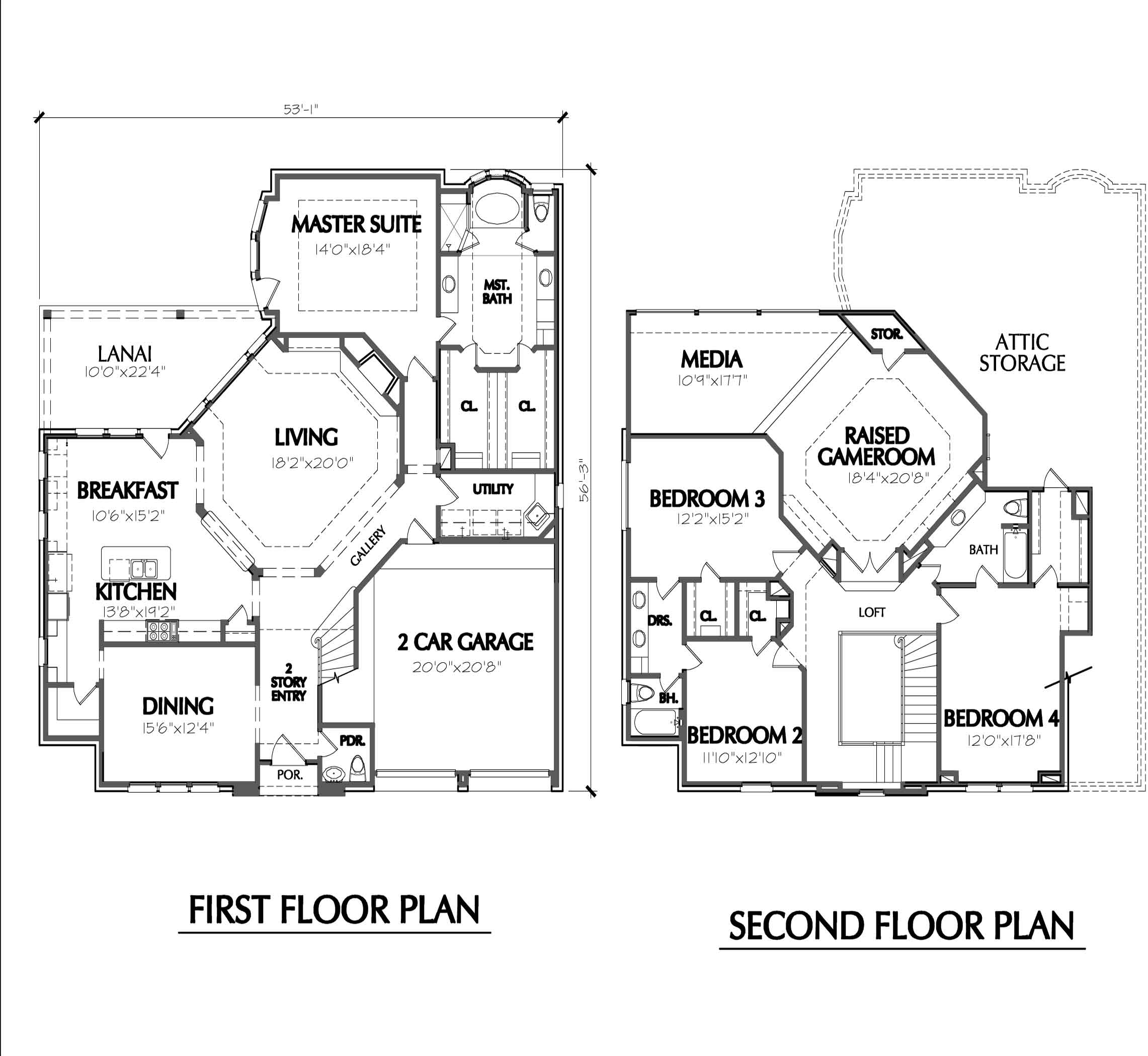 House Plans Two Story Smalltowndjs