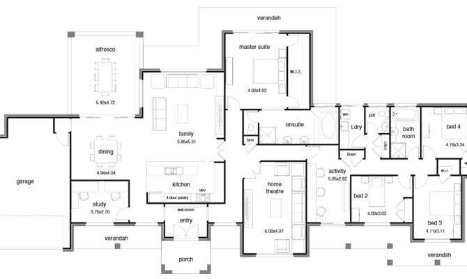 House Plans Wide Blocks Homes Floor