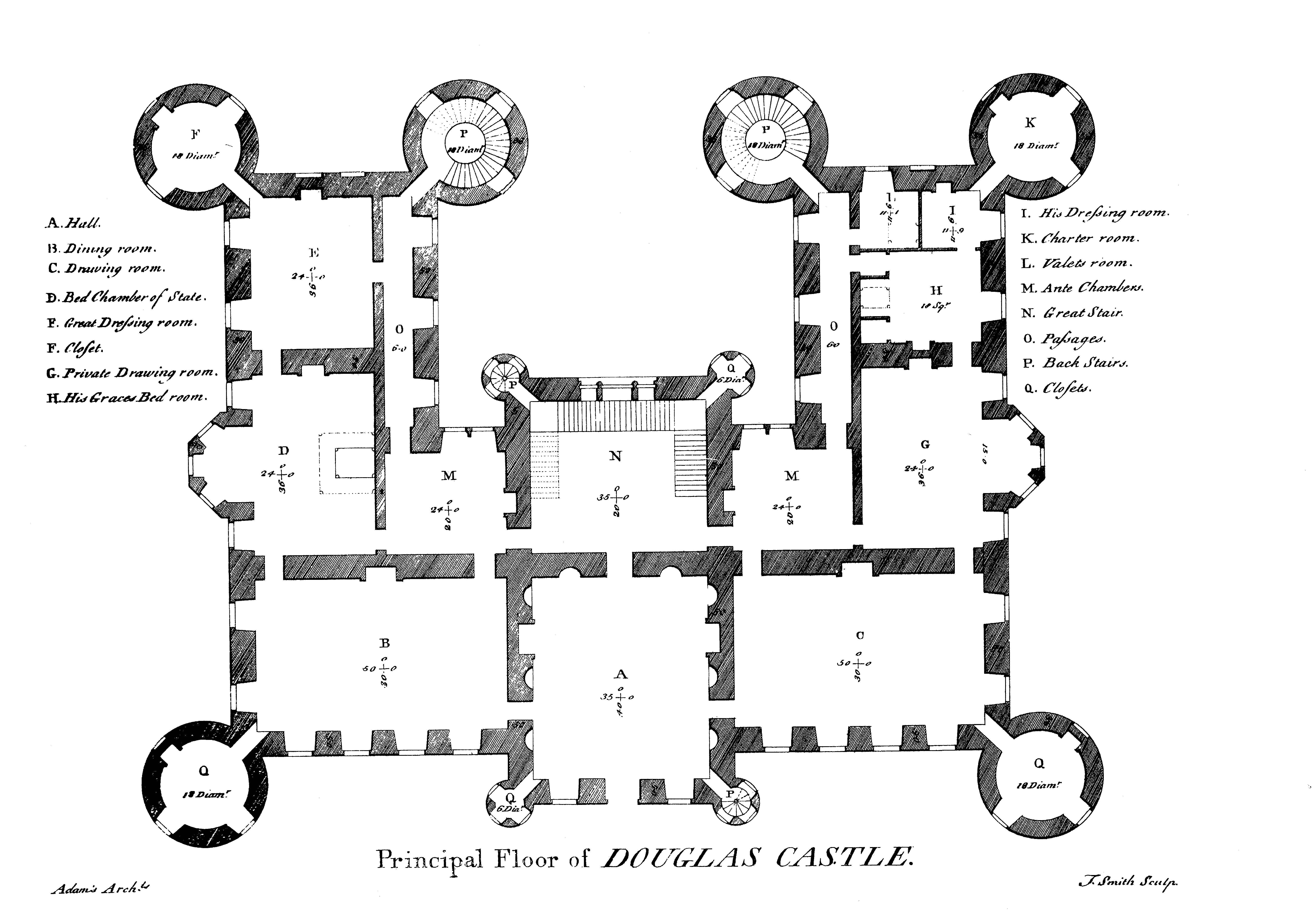 House Scottish Castle Plans Hogwarts Floor Plan Balmoral