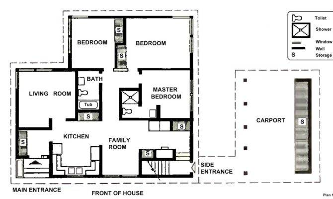 House Small Two Bedroom Plans Design Architecture