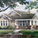 Houseplans Bungalow Craftsman Front Elevation Plan
