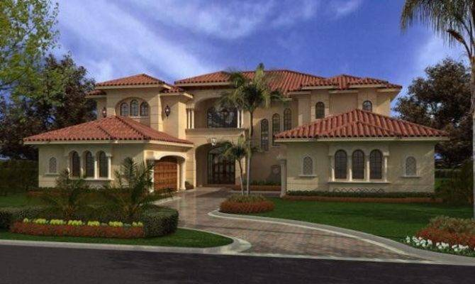 Houses Beautiful Two Story Florida Spanish Mediterranean House