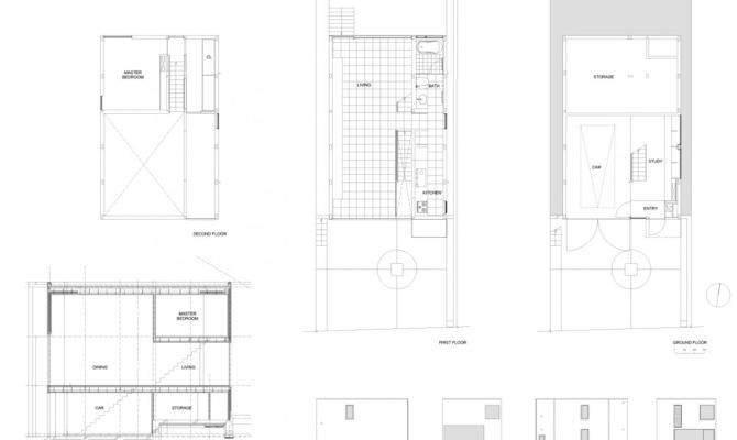 Houses Industrial Design Minimalist House Tokyo Japan Plans