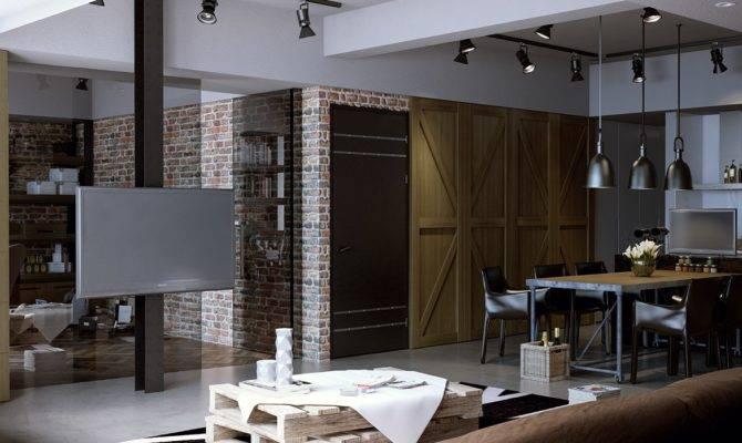 Houses Put Modern Twist Exposed Brick