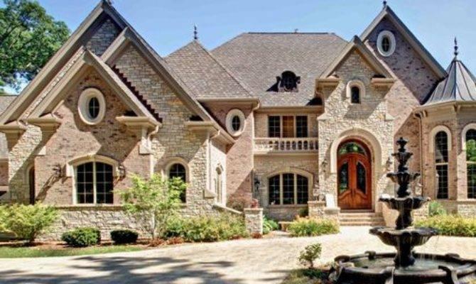 Houzz Brick Stone Exterior Design Ideas Remodel