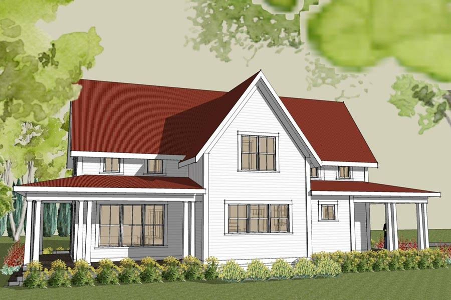 Hudson Farmhouse Plan Unique Home Design