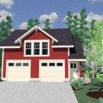 Hwepl Tiny Farmhouse Style Cottage Two Car Garage