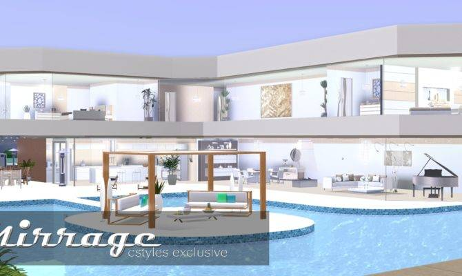 Ice Sims Creations Mirrage Bedroom Modern House