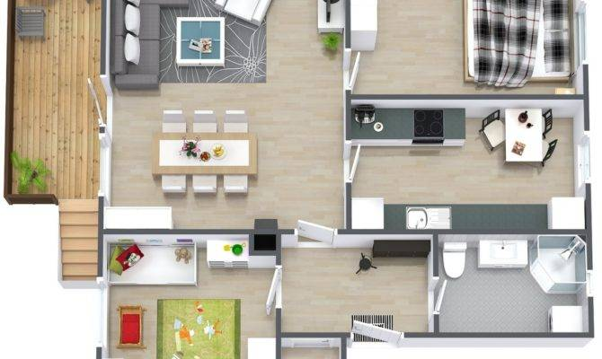 Ideal Small Simple Two Bedroom House Plan Can