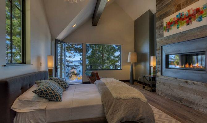 Ideas Contemporary Bedrooms Fireplace Home
