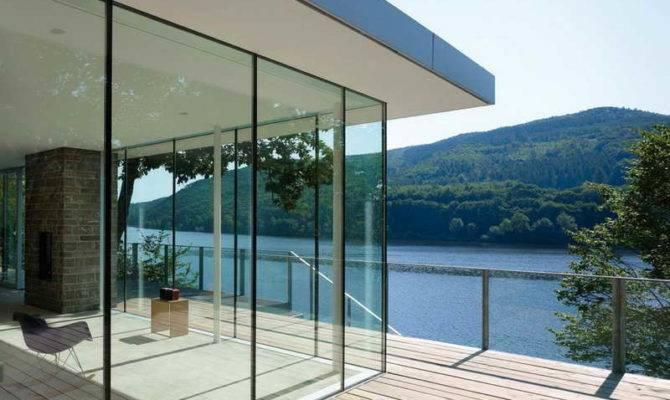 Ideas Germany Glass Wall Lake House Plan