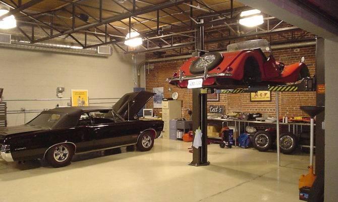 Ideas Modern Workshop Garage Interior Design Red Home