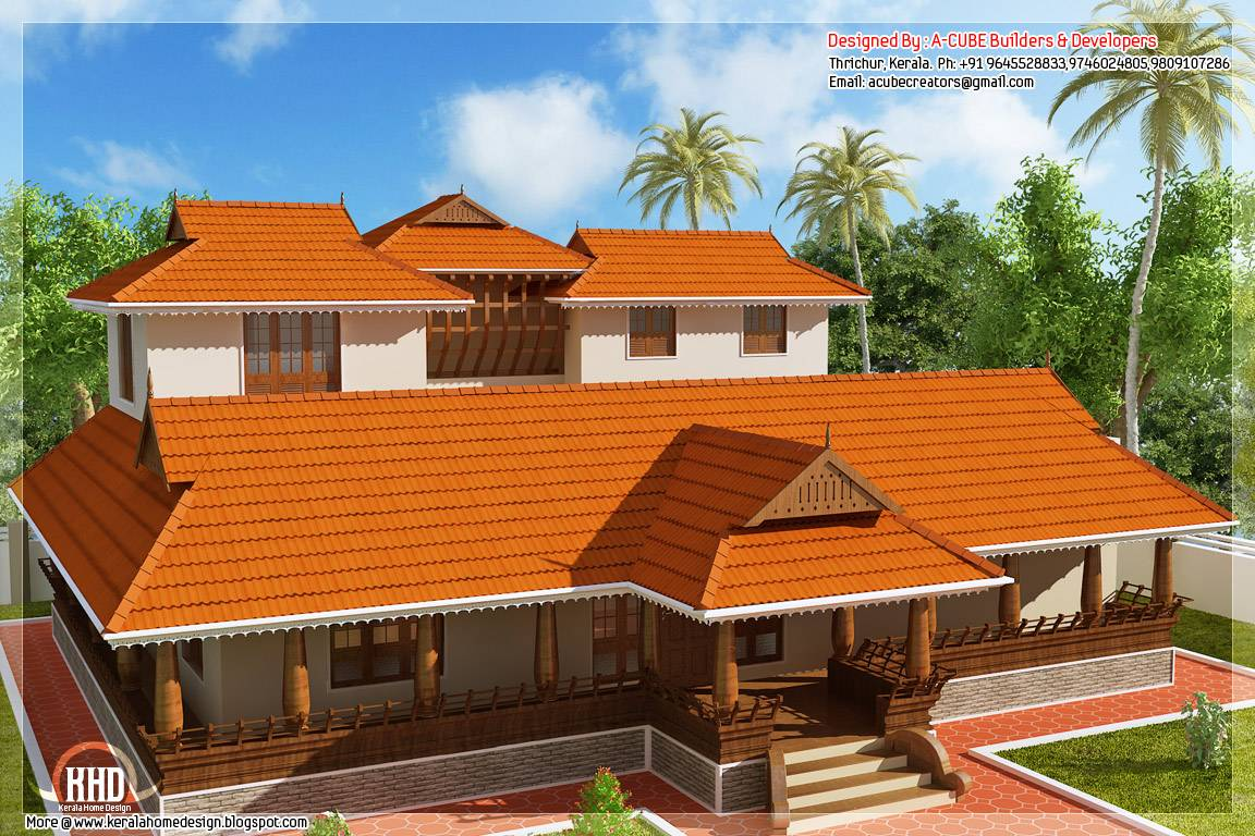 Illam Model Traditional House Kerala Home Design Floor Plans